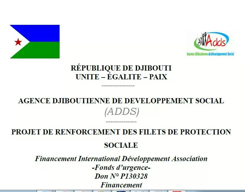 Projet de renforcement des filets de protection social